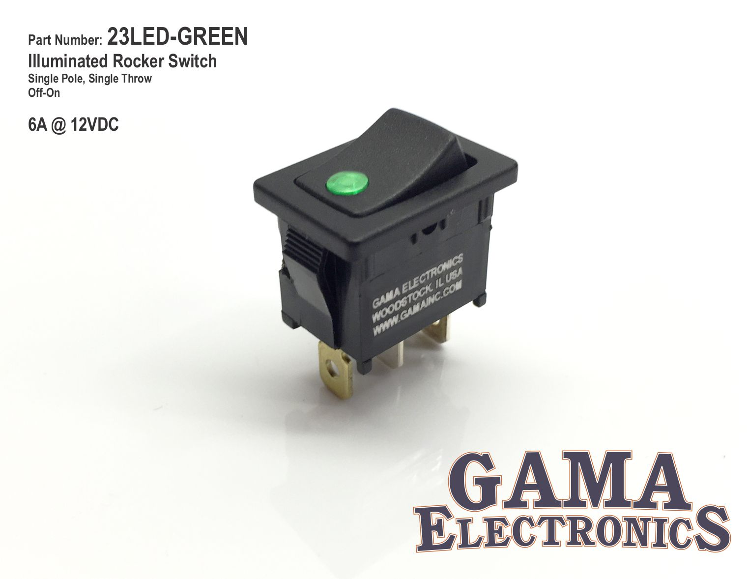 23led Green Gama Electronics Led Wiring Diagram Mini Rocker 595