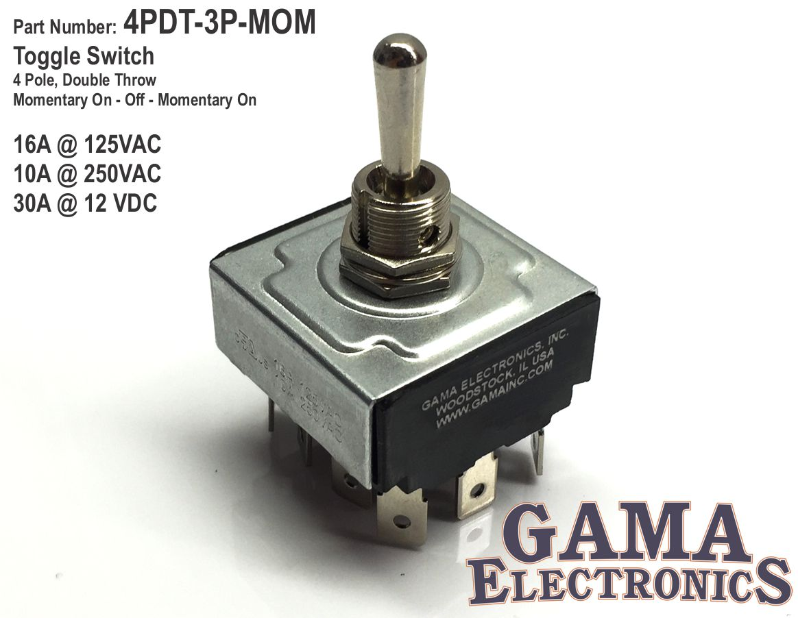 4pdt 3p Mom Gama Electronics