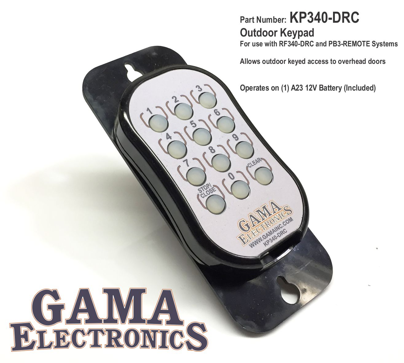Kp340 Drc Gama Electronics Four Digit Keypad Operated Switch