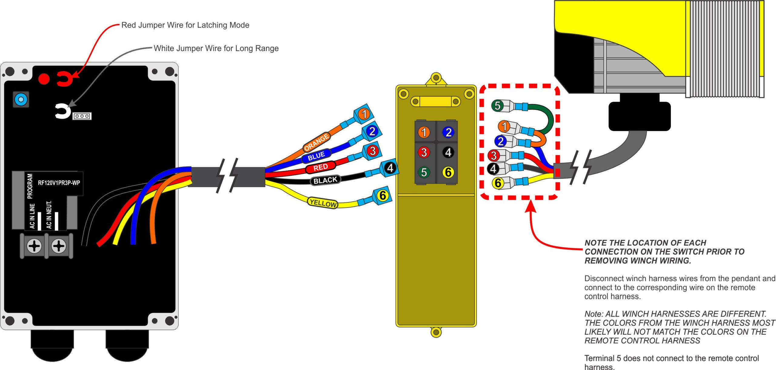 RF120V-1PR3P-WP Ac Volt Winch Wiring Diagram on
